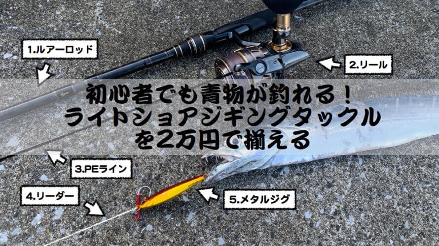 初心者でも青物が釣れる!ライトショアジギングタックルを2万円で揃える