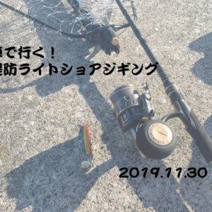 電車で行く!沖堤防ライトショアジギング【19/11/30】