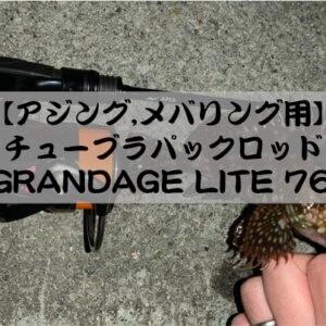 超軽量パックロッド! APIA GRANDAGE LITE 76/5【購入後インプレ】