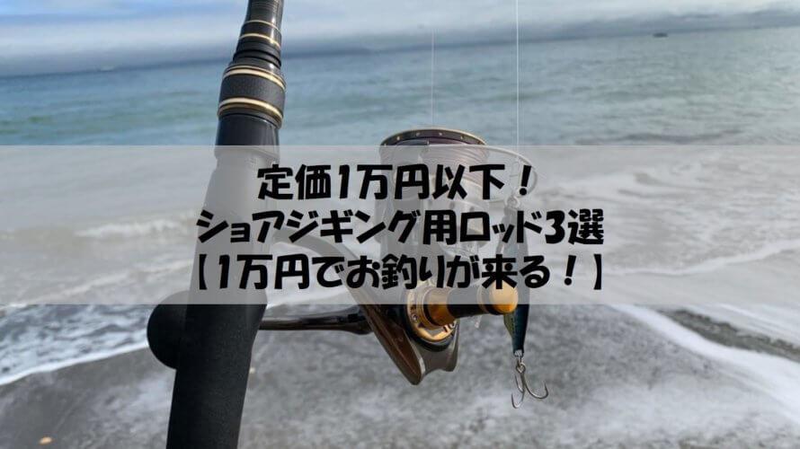 定価1万円以下!ショアジギング用ロッド3選【1万円でお釣りが来る!】