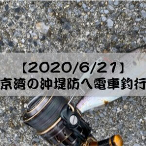 【2020/6/21】東京湾の沖堤防へ電車釣行!