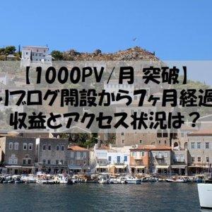 【1000PV/月 突破】釣りブログ開設から7ヶ月経過!収益とアクセス状況は?